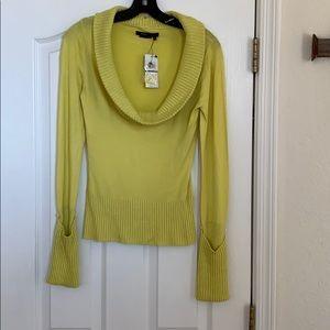 BCBG yellow cowel neck sweater